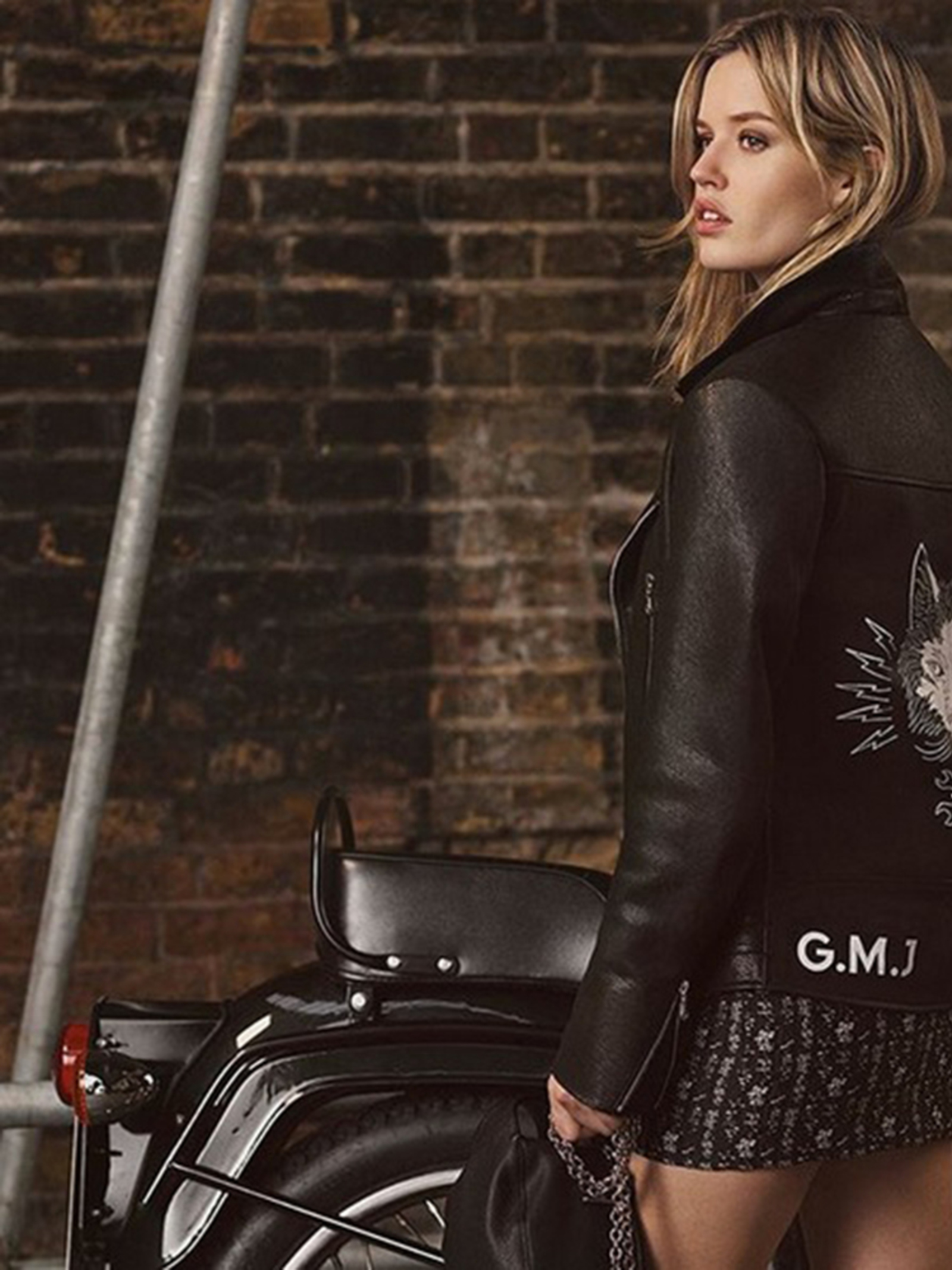 Leather jacket decade - The Model Designs A Capsule Collection For The British Brand