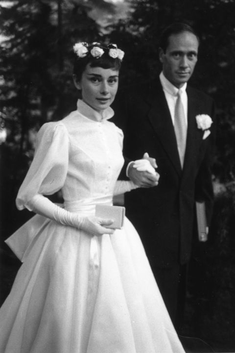 Best Celebrity Wedding Dresses - 23 Famous Wedding Gowns from Audrey ...