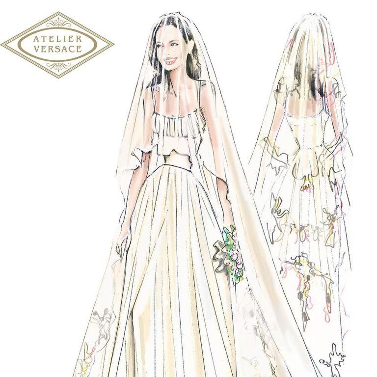 Angelina Jolies wedding dress revealed