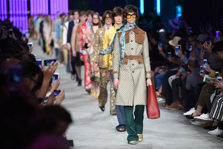 Gucci catwalk to combine men's and women's shows