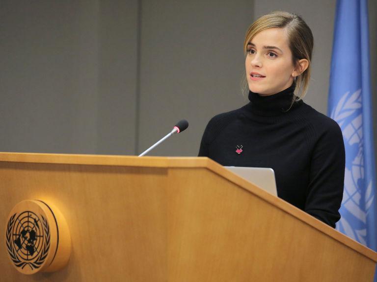 Addressing a speech