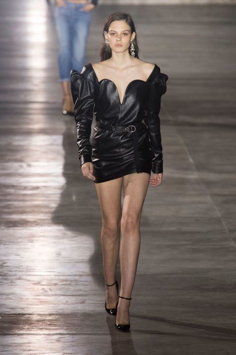 Anthony Vaccarello's first collection for Saint Laurent