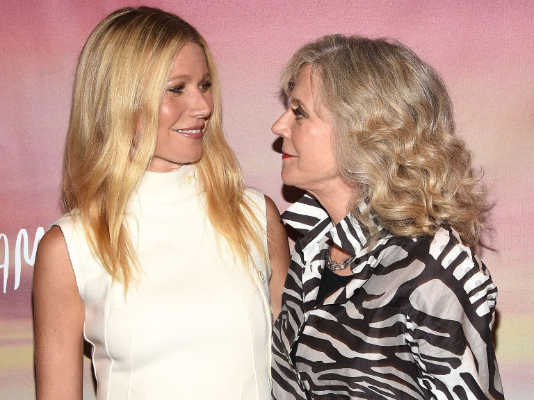Gwyneth Paltrow with her mother, Blythe Danner