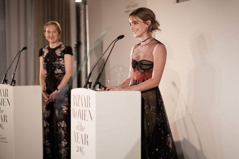 Emma Watson at the Harper's Bazaar Women of the Year Awards 2016 speech video