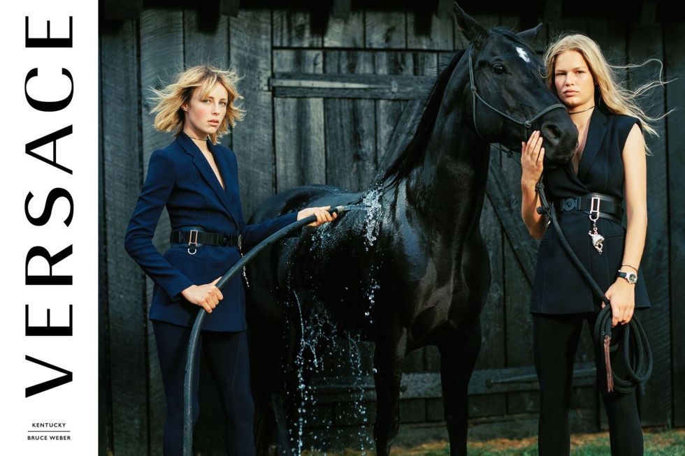 Model: Edie Campbell and Anna Ewers Photographer: Bruce Weber