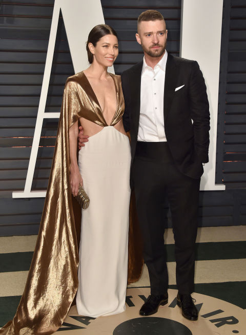 Jessica Biel in Ralph Lauren and Justin Timberlake