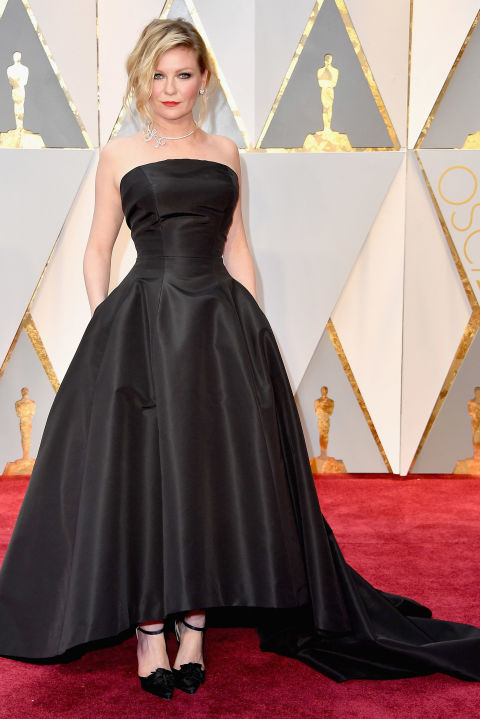 Kirsten Dunst went for the darker, Gothic end of the Disney spectrum in Dior.