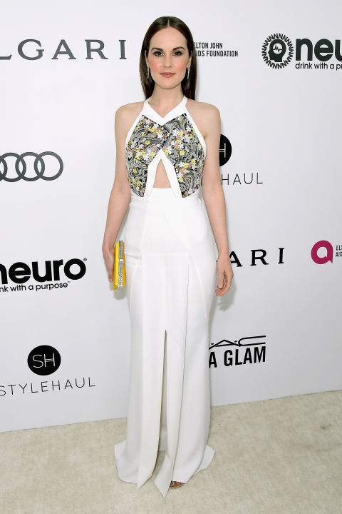 Michelle Dockery in Roland Mouret