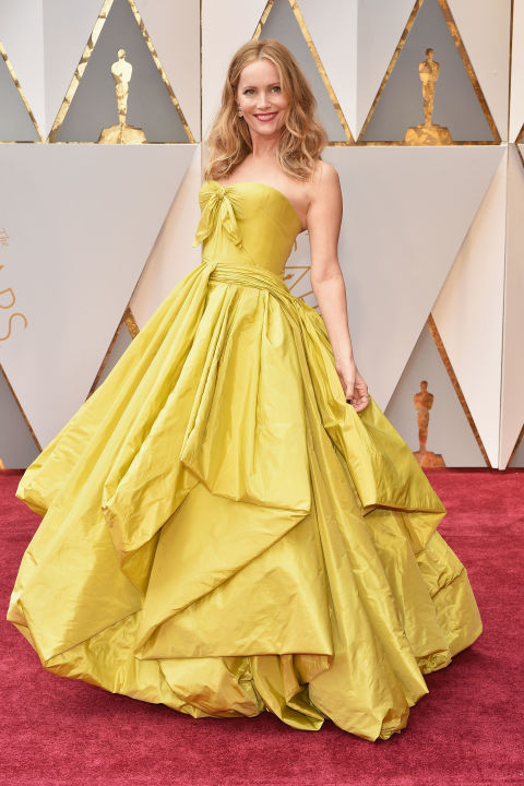 Leslie Mann channelled her inner Belle in Zac Posen.
