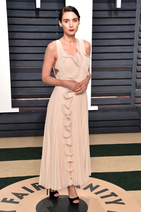 Rooney Mara wearing custom-made H&M Conscious collection