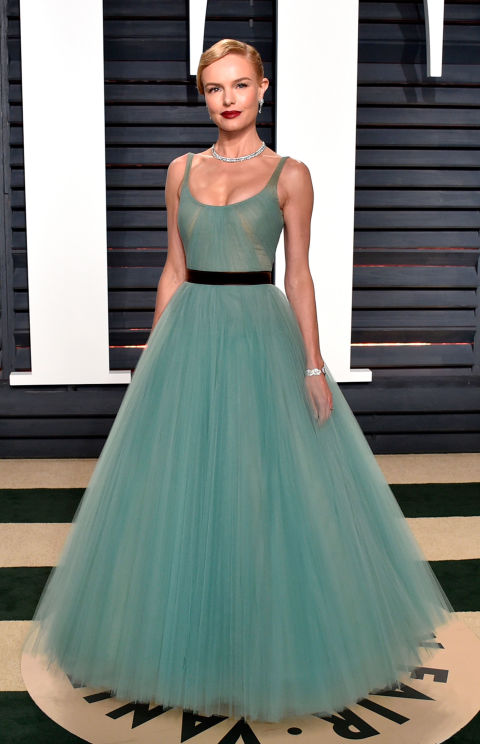 Kate Bosworth is a modern-day Cinderella in teal J Mendel.