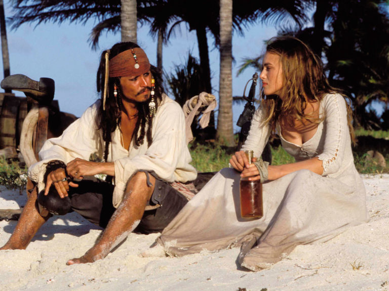Keira Knightley and Johnny Depp in 'Pirates of the Caribbean'