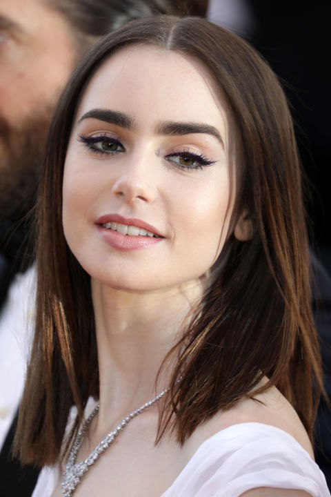 Lily Collins hairstyles, Cannes Film Festival 2017