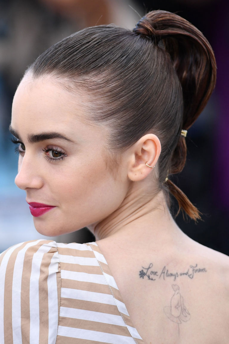 From lily collins hairstyles 2017 best haircuts and hair colors - Lily Collins Hairstyle Cannes Photocall Okja